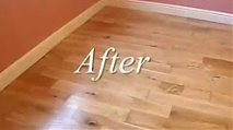 Floor refinishing before and after Canada